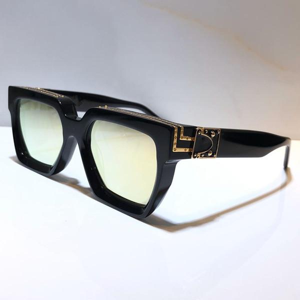 lentille miroir doré or noir