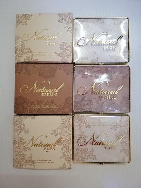 Makeup brand natural eye hadow 9 color too face eye hadow palette 3 et face matte eye eye hadow palette dhl hipping