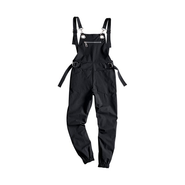 Autumn tide Men's Personality Casual jumpsuit Europe and the United States loose Harlan Beam pants Men / Women's love Bib