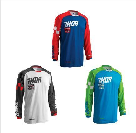 Hot THOR queda terno velocidade manga longa mountain bike Jersey jaqueta de manga longa verão off-road vestuário motocicleta