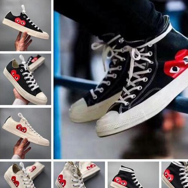 wholesale 2019 New 1970s Canvas Skate running Classic face Canvas Shoes Jointly Name CDG Play Big Eyes skateboard Casual Sneakers 36-44