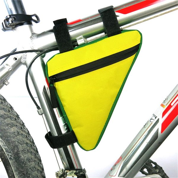 Bike Bicycle bag triangle top tube front tube bag reflective warning frame touring mountain fixed gear Bicycle Accessories 2A #367478