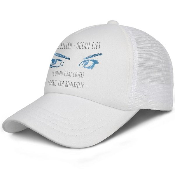 Billie Eilish - Ocean Eyes white for men and women trucker cap baseball styles custom mesh hats