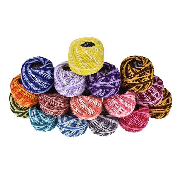 16 Unids / caja Bordado Hilo Línea Cordón DIY Craft Kit de hilo de coser Algodón Punto de cruz Accesorio de tejer