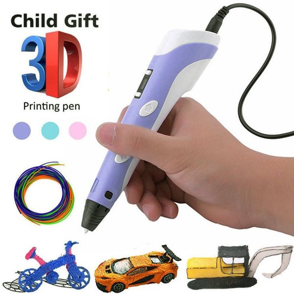 best selling 3D Pen LED Screen DIY 3D Printing Pen 1.75mm ABS PLA drawing with Filament Creative Toy Gift For Kids Design Drawing Tool