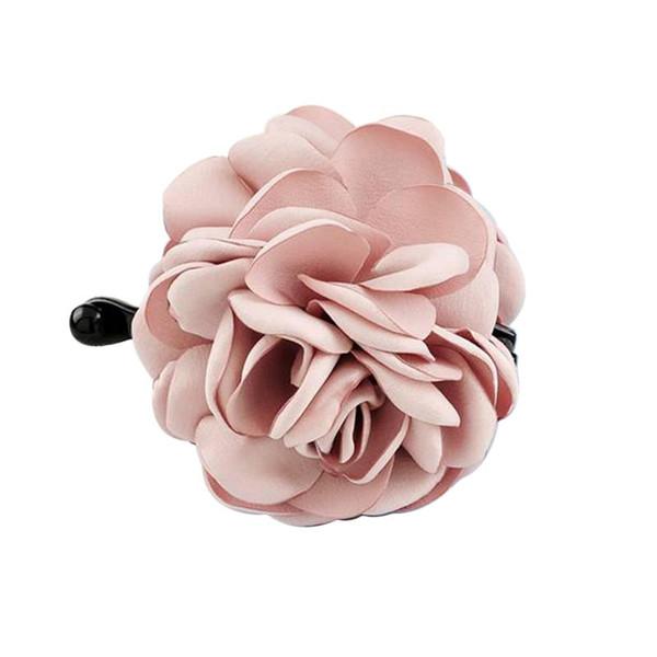 1 pc Cabelo Claw Clips Rose Flor Tecidos de Resina Acessórios Grampo de Cabelo Grande Rabo de Cavalo Titular para Mulheres Senhoras Meninas