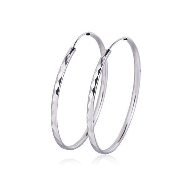 LYST1000 Jewelry Wholesale Fashion 925 Sterling Silver Earrings For Women Heart Hoop Earring Ear Clip Personality Gift With CZ
