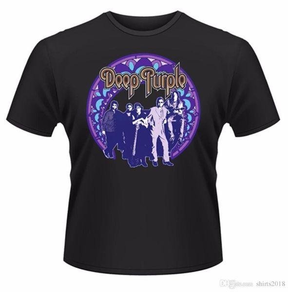 Different Colours High Quality Men's Short Deep Purple Frame T-Shirt O-Neck Christmas Shirt