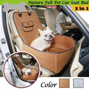 Couverture de siège de voiture pour animaux de compagnie Double usage couverture de siège de chien en feutre de tissu de voyage en plein air étanche antidérapant chien tapis de maison chat transporteur OOA6313