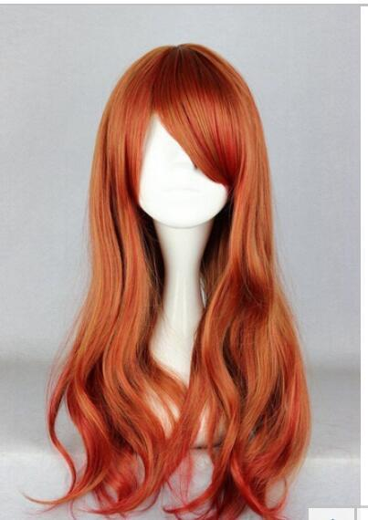 FREE SHIPPING+ ++New Long Curly Multi-color Cosplay Anime Wigs