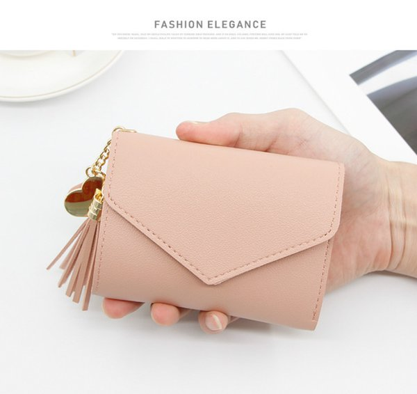 Women Wallet Short Style Small Three Fold Hand Wallet Multi Function Many Card Bag Direct Wholesale Drop Shipping Girls Purse Hot Sale