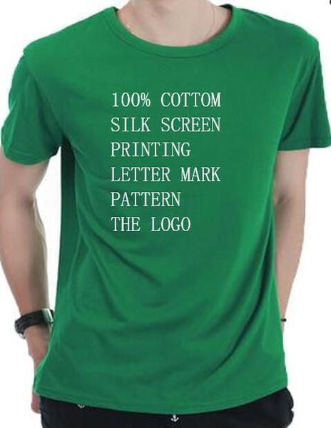 HOT Moda estilo de venda homens básicos de algodão T-shirt com 100% algodão de manga curta Várias cores e vários padrões carta impressão padrão