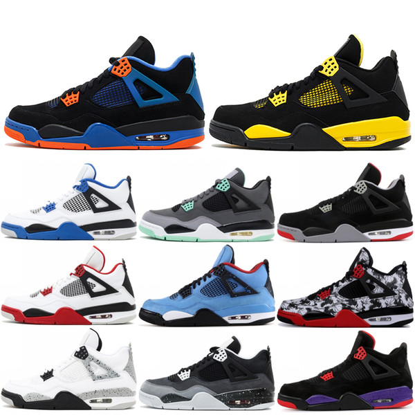 quality design 5f915 4a03d 2019 4 4s Men Designer Basketball Shoes Oreo Thunder Cavs White Cement  Royal Blue Pure Money 4s Classic Sports Sneakers US 7 13 From Outdoor168,  ...