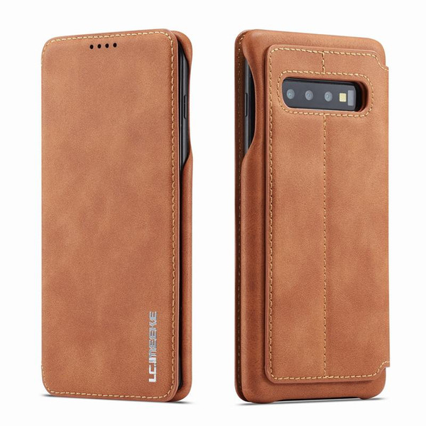 Magnetic Flip Case For Samsung Galaxy S10 Plus E Luxury Wallet Case Cover Plain Vintage Phone Leather Bag For SAMSUNG S10e Coque