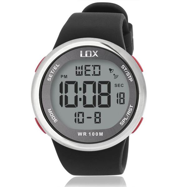LOX Мода Мужчины Спортивные Часы Водонепроницаемые 100 м Открытый Fun Многофункциональные Цифровые Часы Плавание Дайвинг Наручные Часы Reloj Hombre