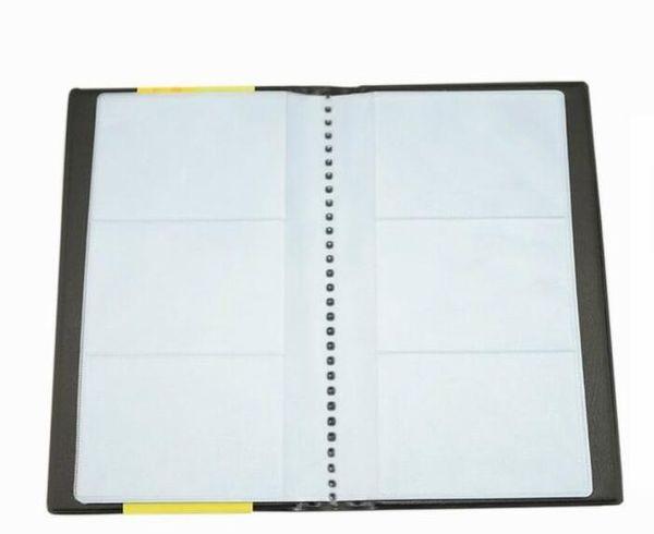 PU-Leder Visitenkarten-Buchhalter Journal Visitenkarten-Organizer Visitenkarten-Buchhalter - Halten Sie 300 Karten schwarz