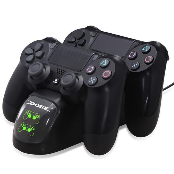 Controller Dual USB-Ladegerät Ladestation Desktop-Ladegerät für PS4 / PS4 Slim / Pro Controller