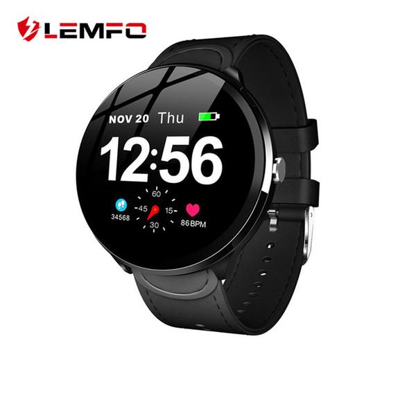 LEMFO V12 de 1,3 pulgadas de pantalla táctil de cristal templado inteligente impermeable reloj Control de las pulsaciones de la presión arterial Para Hombres Mujeres