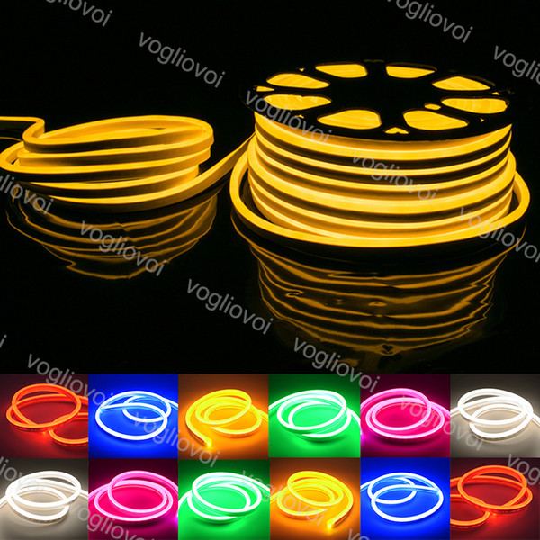 Neon Sign Led Soft Lights 12V SMD2835 PVC 120Led/M Multicolor Waterproof IP67 Indoor Outdoor Halloween Decoration Christmas Decoraion DHL