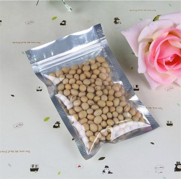 Lamina di alluminio trasparente Sacchetto Sacchetto Ziplock Sacchetto di imballaggio a chiusura lampo Valvola richiudibile di vendita con cerniera Sacchetto di imballaggio 10000 pezzi 7 * 13 cm
