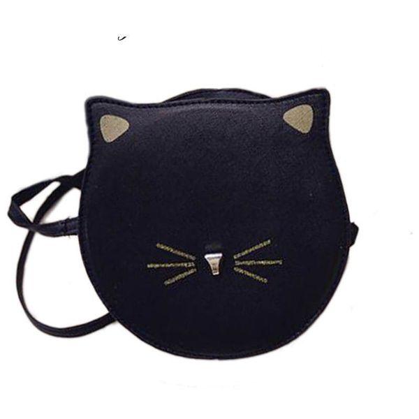 6ae48980f Buena calidad Mujeres Forma de Gato Bolsos Crossbody Linda Chica Messenger  Bag Nueva Impresión de Moda