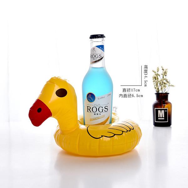 PVC şişme balon flamingo su çay bardağı içmek yüzer kupası braketi coaster çocuk oyun su oyuncakları