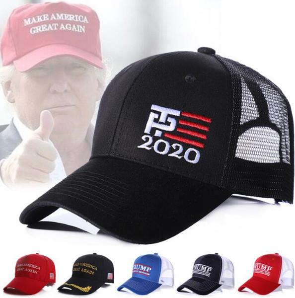 Cappellini da baseball di Donald Trump 2020 Cap e Mesh Summer America Grande Snapback Cap visiera sportiva LJJK1515