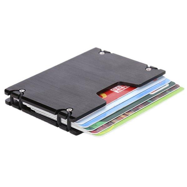 Women Men Business Id Credit Card Protector Wallet Card Holder Package Box High Quality Metal Bus Card Case Bouncy Holder