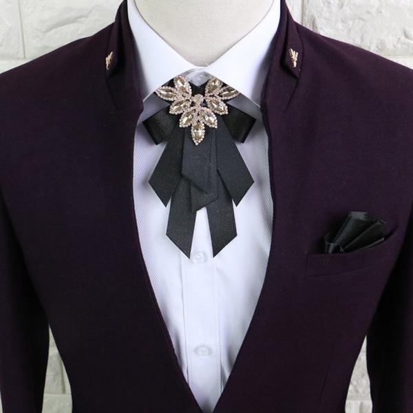 Üst düzey elmas erkekler ve kadınlar yaka çiçeği İngiltere Avrupa ve Amerikan takım gömlek papyon sağdıç konak yay damat Noel Hediyeler bağları