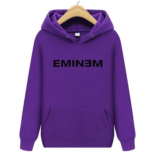 2018 новые зимние мужские толстовки Eminem печатных сгущаться пуловер толстовка мужская спортивная одежда мода 13 цветов Бесплатная доставка