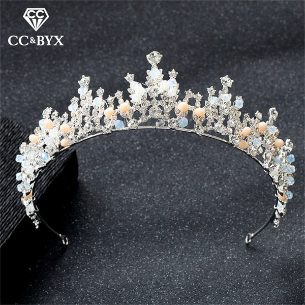 CC wedding jewelry big crown tiara hairbands romantic engagement hair accessories for bridal princess sweet style pageant XY340