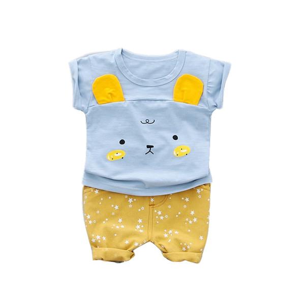 Ragazzi vestiti Set 2019 New Summer 0-3y Fashion Style bambini Suit cotone materiale O-collo con stampa di cani Abbigliamento per ragazzi
