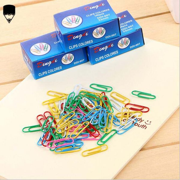 Riempimento clip di carta colorata Multi Craft carattere Paperclips archivi cartacei libro Mark Bookmark Office e Student cancelleria Fornitori 0018STD