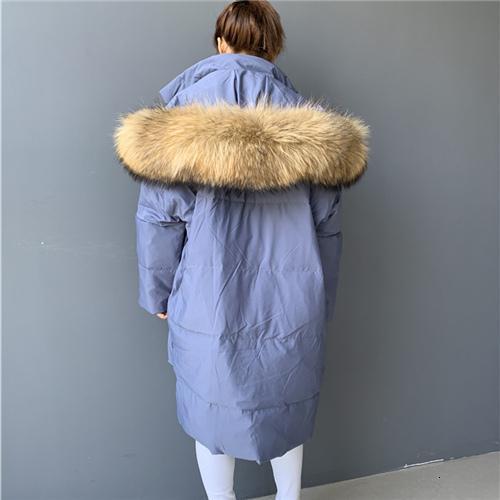 Blu pelliccia di procione 1