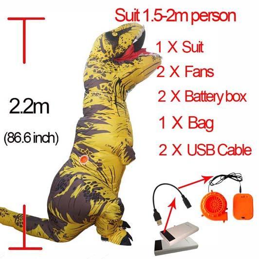 Giallo L Dinosauro gonfiabile