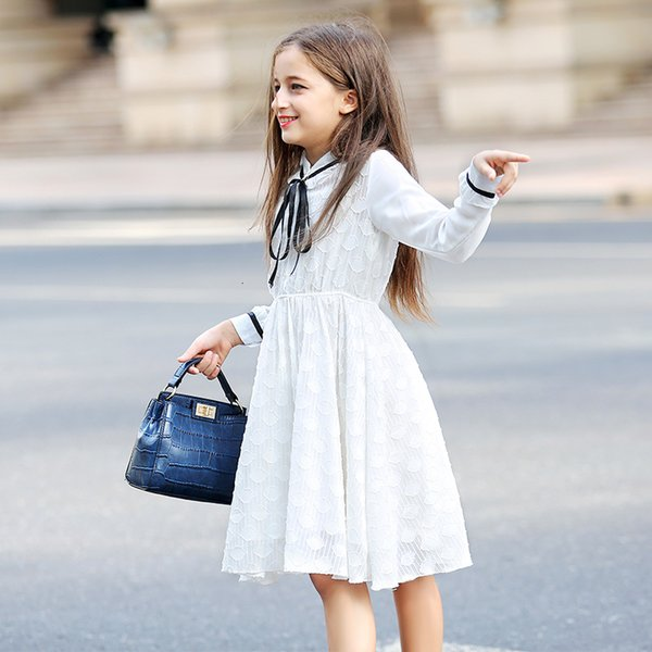 Teenaeg Dress for Girls Summer Spring Clothes White Girl Dresses Princess Kids Lace Party Dress Children for Girls 6-16 Years T191016
