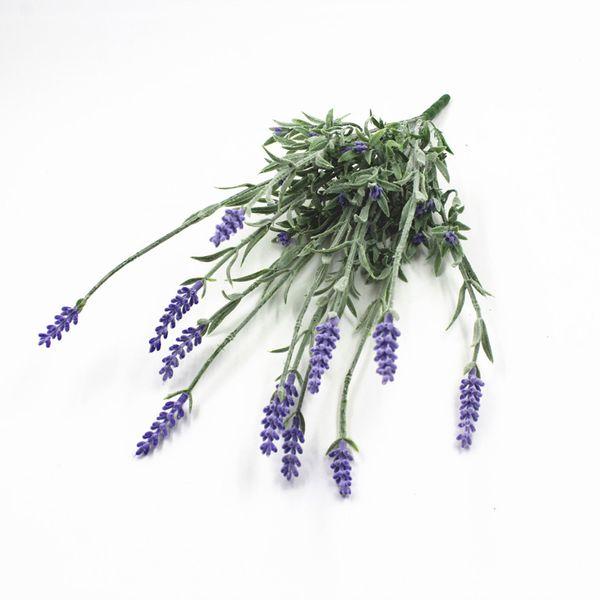 1pc 12 têtes de lavande Fleurs artificielles Grain décoratif simulation de plantes aquatiques Accueil Mariage Fournitures de bricolage Vase déco