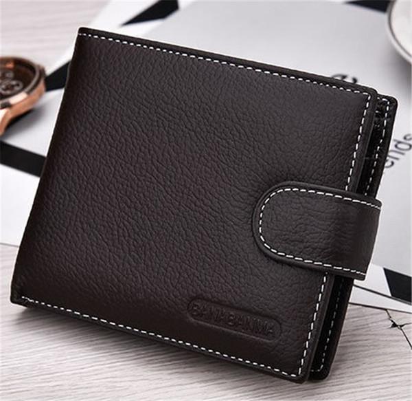 Luxus-Designer Mens-Mappen-Leder PU-Kurzbörsen Herren Haspe Vintage-Mann-Geldbeutel-Münzen-Beutel-Multifunktionskarten Wallet Mode 3