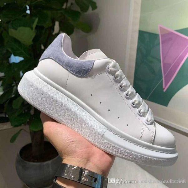 2019 Mais Recente Sneaker Reflexivo Apartamentos De Couro, Formadores De Designer em Branco Preto Sapatos Casuais, Unisex, venda Quente em