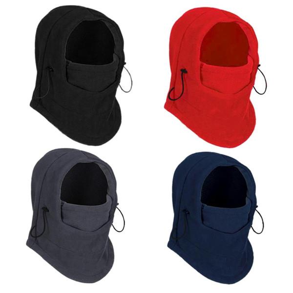 Тепловое руно Балаклаве Hat Hood Горнолыжная велосипедов мотогонок маска для лица шеи шлем Cap