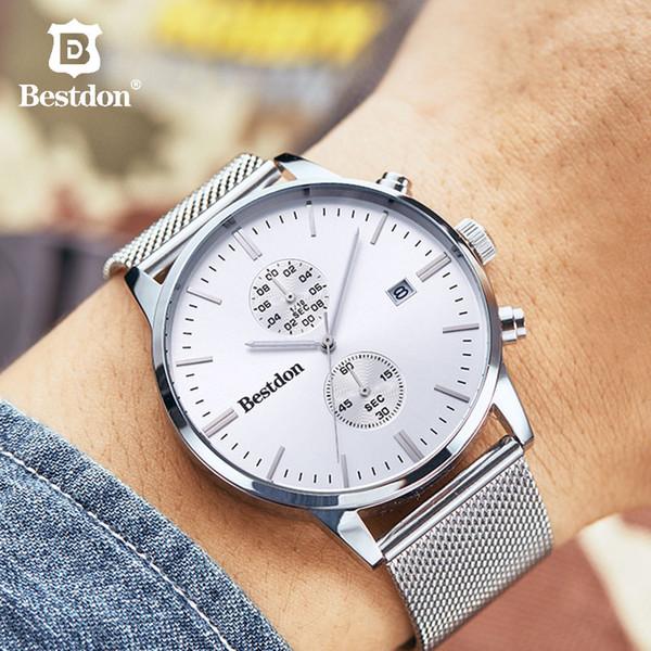 Bestdon relojes para hombre movimiento de cuarzo reloj electrónico impermeable moda tiktok mismo párrafo Suiza Regalo de gama alta nuevo