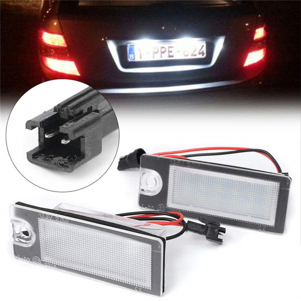 2Pcs Car 18 LED License Plate Light White Number Plate Lamp For Volvo S80 1999-2006 V70 XC70 S60 XC90 Accessories