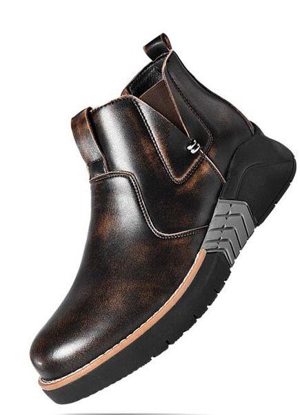 Leather shoes men winter new men's snow boots, leisure warm boots, old men's shoes, and men's shoes