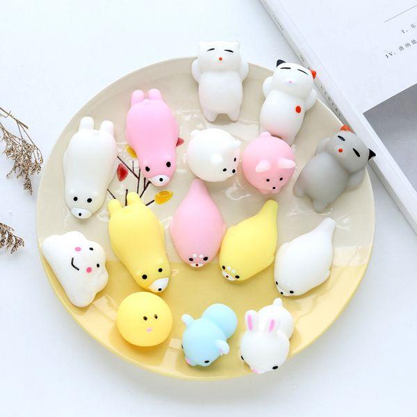 best selling Squishy Slow Rising Jumbo Toy Bun Toys PVC Animals Cute Kawaii Squeeze Toy Mini Squishies Cat Squishi Fashion Christmas Gifts L352