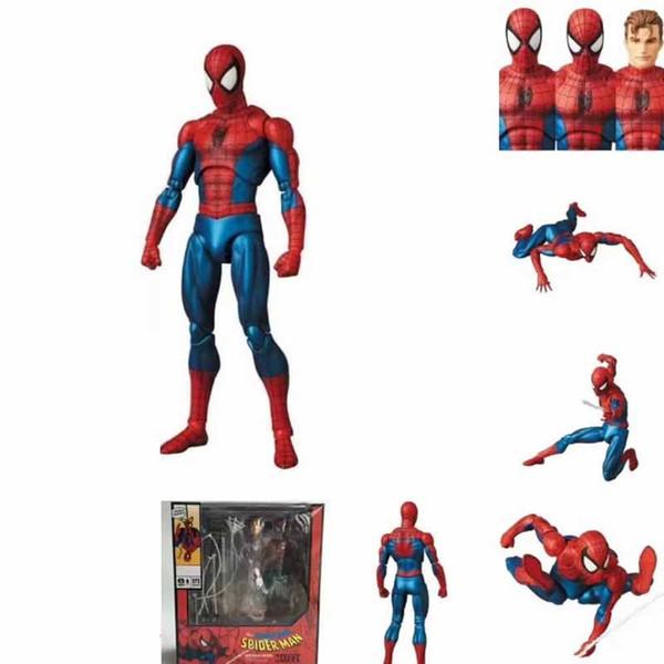Marvel SpiderMan Mafex 075 The Amazing Spider-Man Comic Ver Juntas Figura de PVC móvil Juguetes de 16 cm
