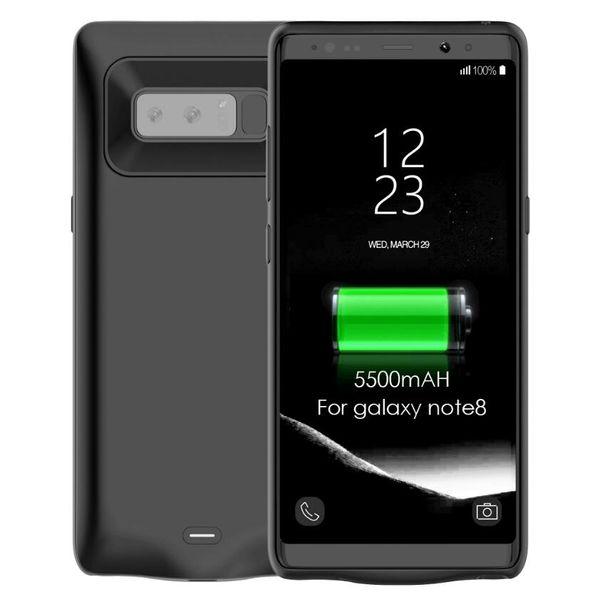 Banco de energía 5500mAh Batería recargable Cubierta de la caja de respaldo Batería de respaldo del teléfono móvil Cargador de la caja trasera para Samsung Galaxy Note 8
