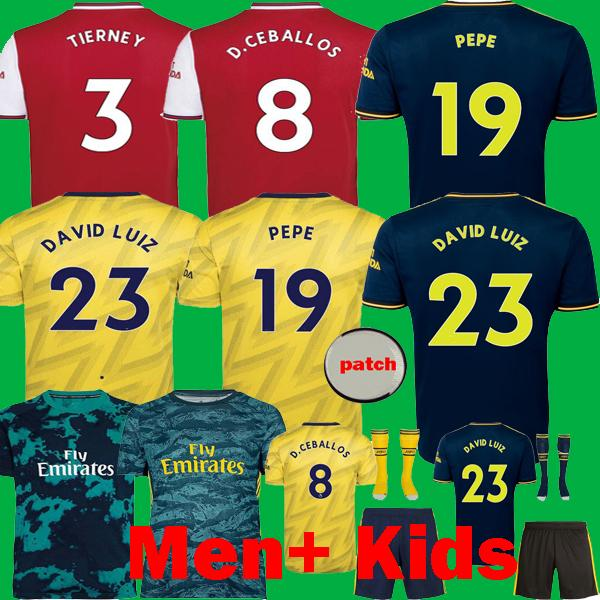 best selling DAVID LUIZ NICOLAS PEPE 2019 2020 TIERNEY Soccer Jerseys 19 20 CEBALLOS KIDS Kits Camisetas HENRY maillot Long goalkeeper football shirts