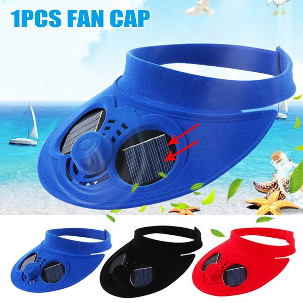 Newly Outdoor Baseball Cap Hat with Solar Powered Cooling Fan for Travelling Cycling 19ing