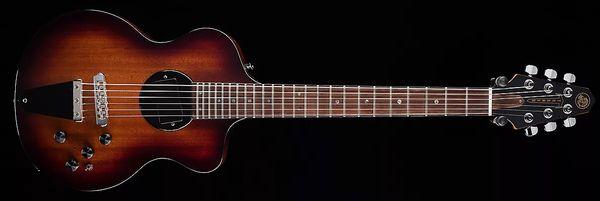 Rare Rick Turner Modelo 1-C-LB Lindsey Buckingham Guitarra eléctrica semi hueca color marrón burdeos marrón Encuadernación en negro, 5 piezas de mástil de arce laminado