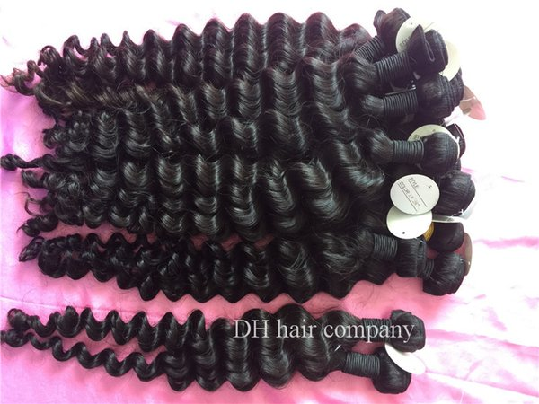 Brazilian Virgin Human Hair Ocean Wave Raw Indian Peruvian Malaysian Wavy Hair Extensiones Can Be Dyed and Bleached Any Color 10 bundles/lot